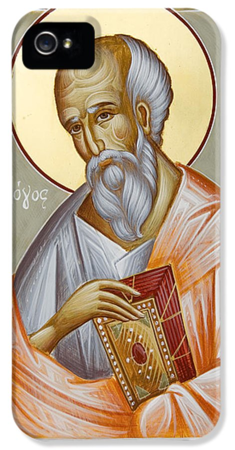 St John The Theologia IPhone 5 Case featuring the painting St John The Theologian by Julia Bridget Hayes