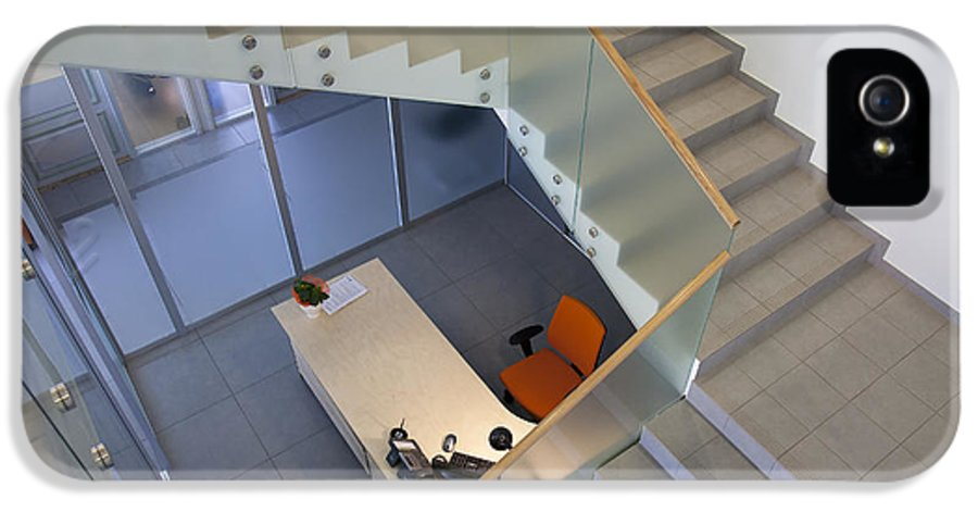 Business IPhone 5 Case featuring the photograph Stairwell In And Office by Jaak Nilson