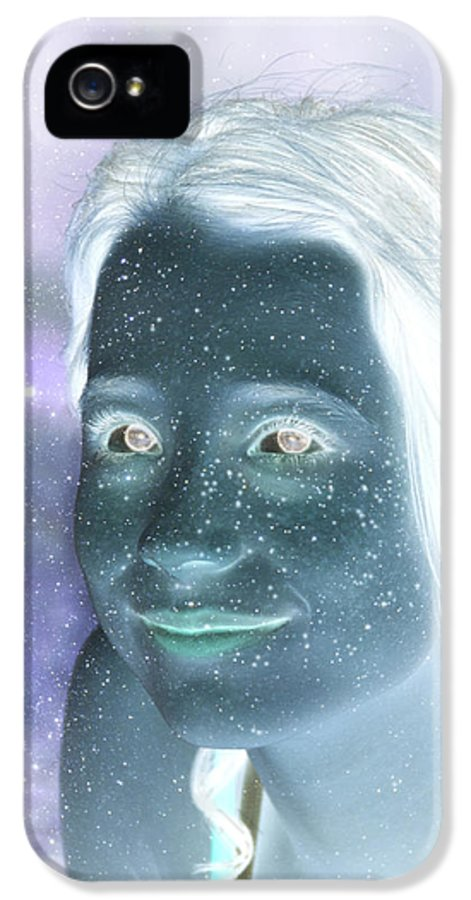 Stardust IPhone 5 Case featuring the digital art Star Freckles by Nikki Marie Smith