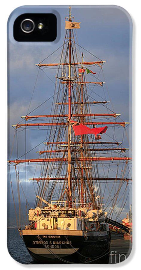 Ship IPhone 5 Case featuring the photograph Stavros S Niarchos by Gaspar Avila