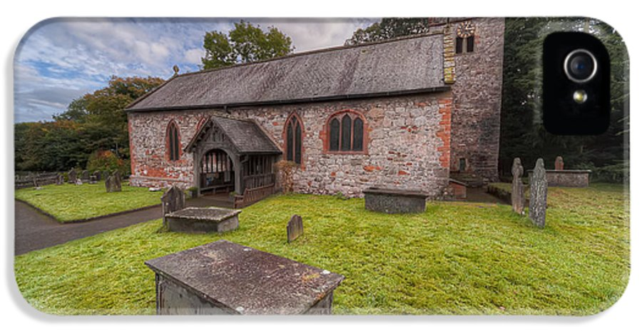 British IPhone 5 / 5s Case featuring the photograph St.dyfnog's Church by Adrian Evans
