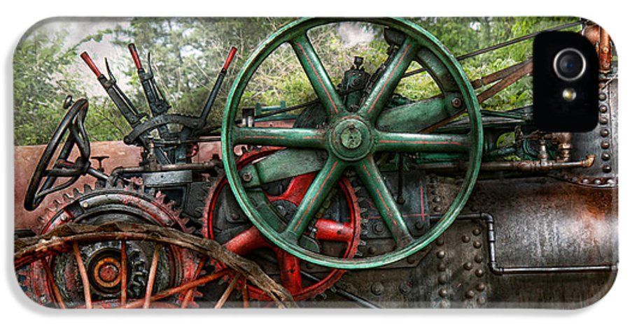 Steampunk IPhone 5 Case featuring the photograph Steampunk - Machine - Transportation Of The Future by Mike Savad