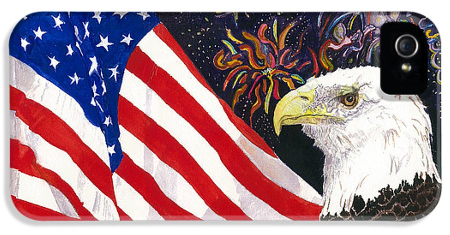 Freedom IPhone 5 Case featuring the painting Still Free by Joy Braverman