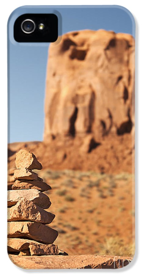 America IPhone 5 Case featuring the photograph Stone Stack. by Jane Rix