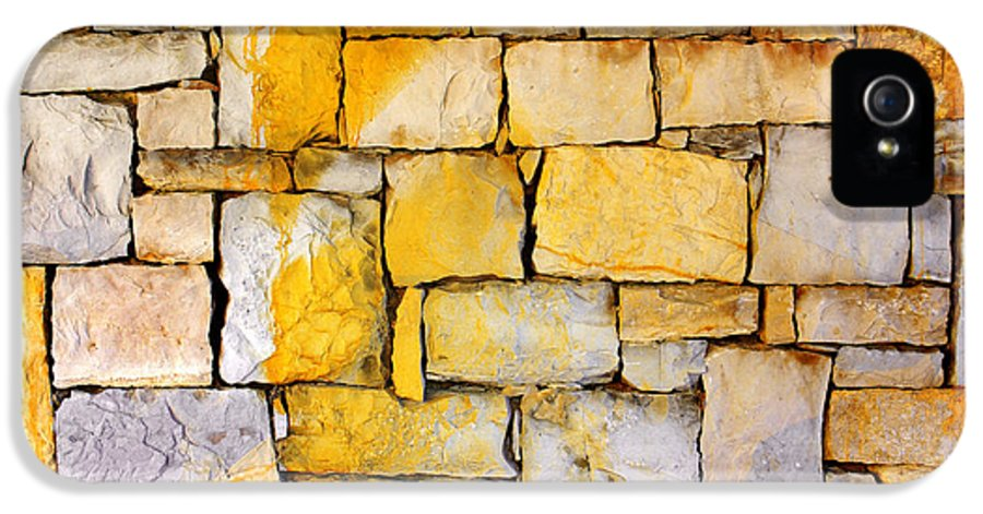 Abstract IPhone 5 Case featuring the photograph Stone Wall by Carlos Caetano