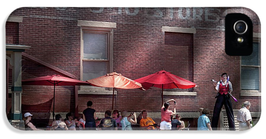 Hdr IPhone 5 / 5s Case featuring the photograph Storefront - Bastile Day In Frenchtown by Mike Savad