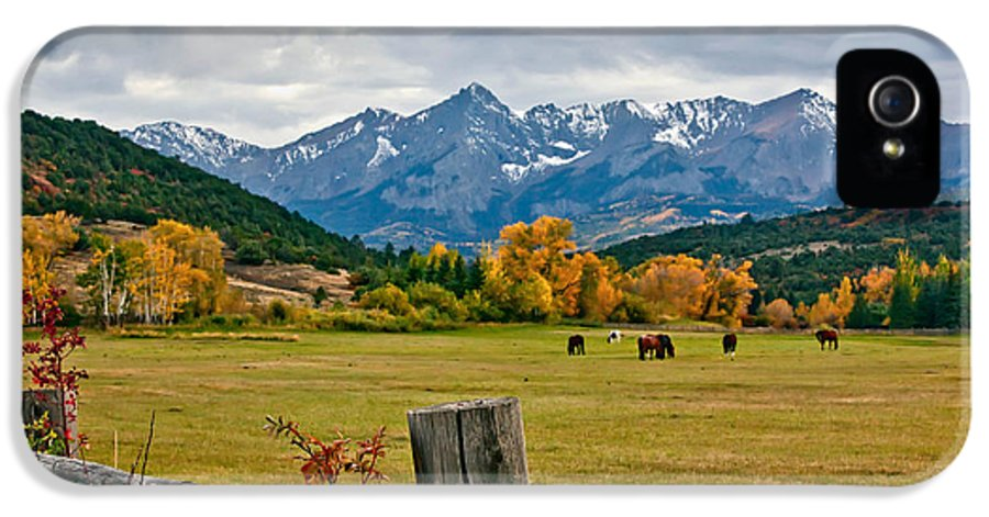 Storm IPhone 5 Case featuring the photograph Storm Above Sneffels by Jennifer Grover
