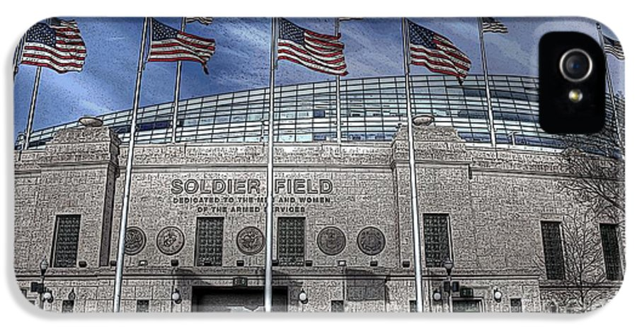 Soldier Field IPhone 5 Case featuring the photograph Stylized Soldier by David Bearden