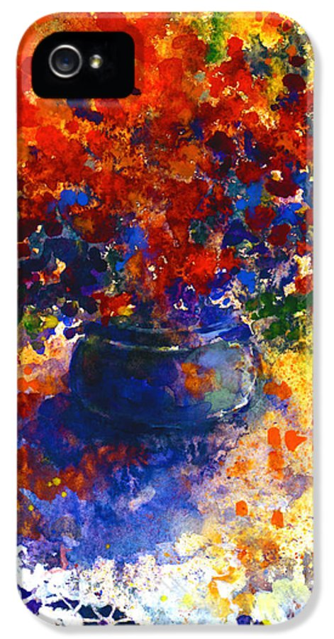 Watercolor Flowers Painting IPhone 5 / 5s Case featuring the painting Summer Flowers by Svetlana Novikova