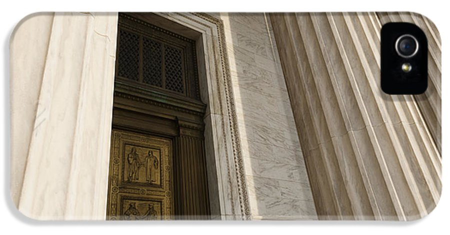 American History IPhone 5 Case featuring the photograph Supreme Court Entrance by Roberto Westbrook