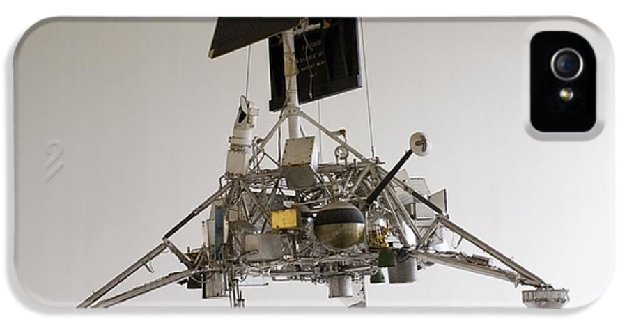 Machine IPhone 5 Case featuring the photograph Surveyor Lunar Lander Test Model by Mark Williamson