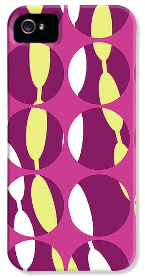 Louisa Knight IPhone 5 Case featuring the digital art Swirly Stripe by Louisa Knight