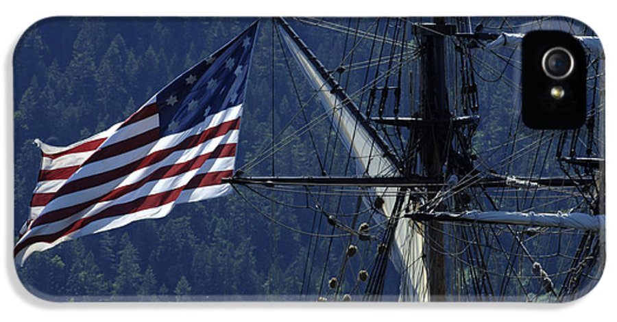 Old Glory IPhone 5 Case featuring the photograph Tall Ship 3 by Bob Christopher