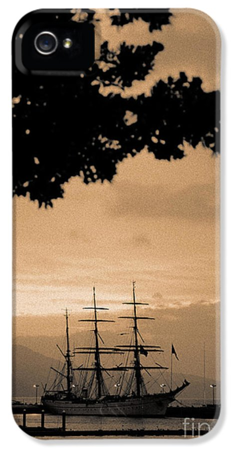 Ship IPhone 5 Case featuring the photograph Tall Ship Gorch Fock by Gaspar Avila
