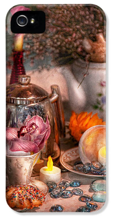 Tea IPhone 5 / 5s Case featuring the photograph Tea Party - I Would Love To Have Some Tea by Mike Savad