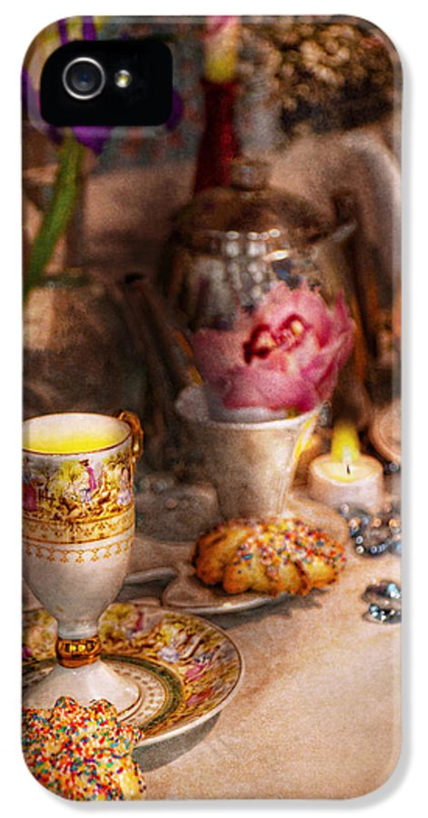 Tea IPhone 5 Case featuring the photograph Tea Party - The Magic Of A Tea Party by Mike Savad