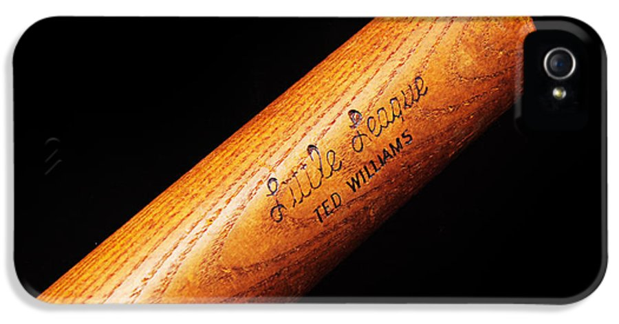 Baseball Bat IPhone 5 Case featuring the photograph Ted Williams Little League Baseball Bat by Andee Design