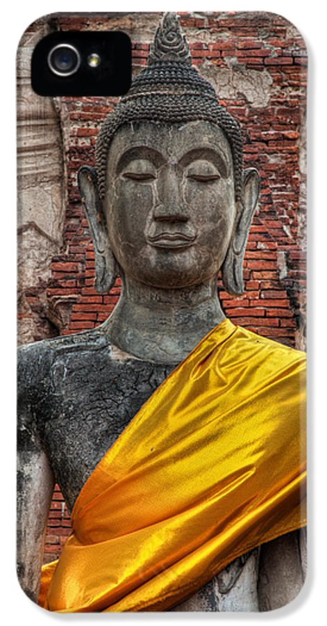 Temple IPhone 5 Case featuring the photograph Thai Buddha by Adrian Evans