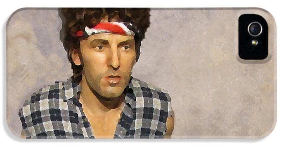 Bruce Springsteen IPhone 5 Case featuring the photograph The Boss by David Dehner