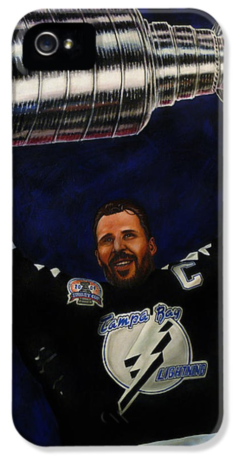 Nhl IPhone 5 Case featuring the painting The Captain by Marlon Huynh
