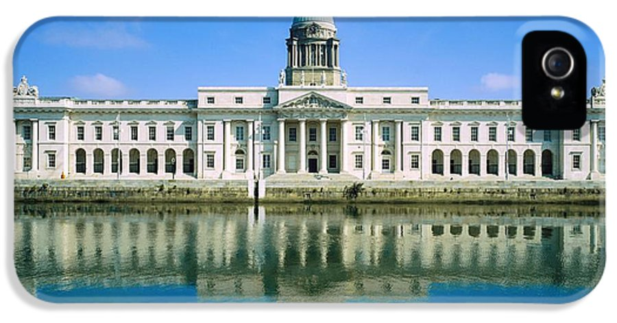 Administration IPhone 5 Case featuring the photograph The Custom House, River Liffey, Dublin by The Irish Image Collection
