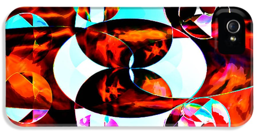 Abstract IPhone 5 Case featuring the digital art The Epicenter by Anthony Caruso