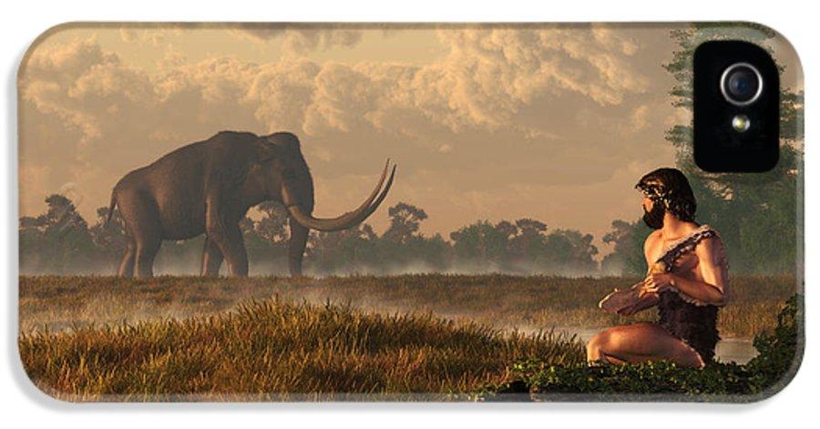 Mammoth IPhone 5 Case featuring the digital art The First American Wildlife Artist by Daniel Eskridge