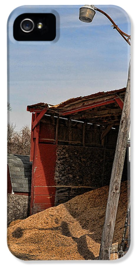 Red IPhone 5 Case featuring the photograph The Grain Barn by Paul Ward