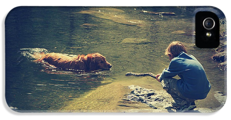 Dog IPhone 5 Case featuring the photograph The Joys Of Innocence by Laurie Search