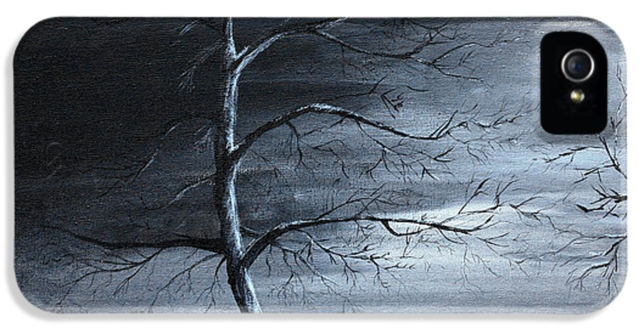Black And White IPhone 5 Case featuring the painting The Raven Piece 1 Of 2 by Gray Artus