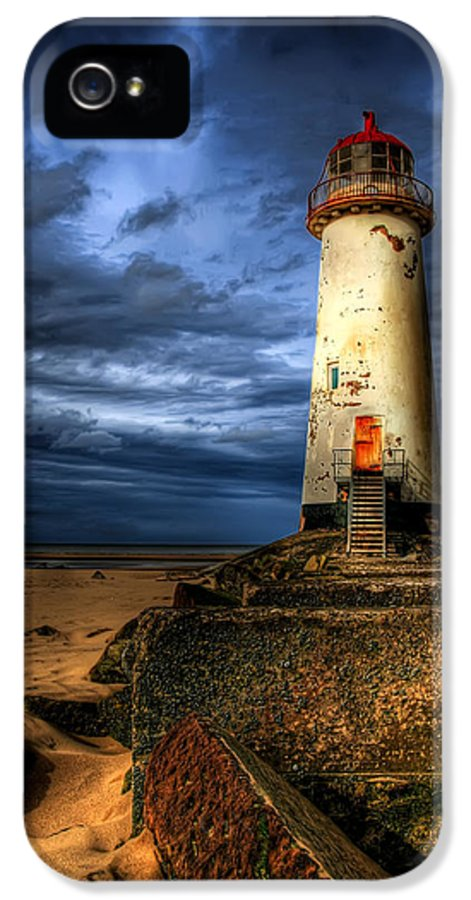 Beach IPhone 5 Case featuring the photograph The Talacre Lighthouse by Adrian Evans