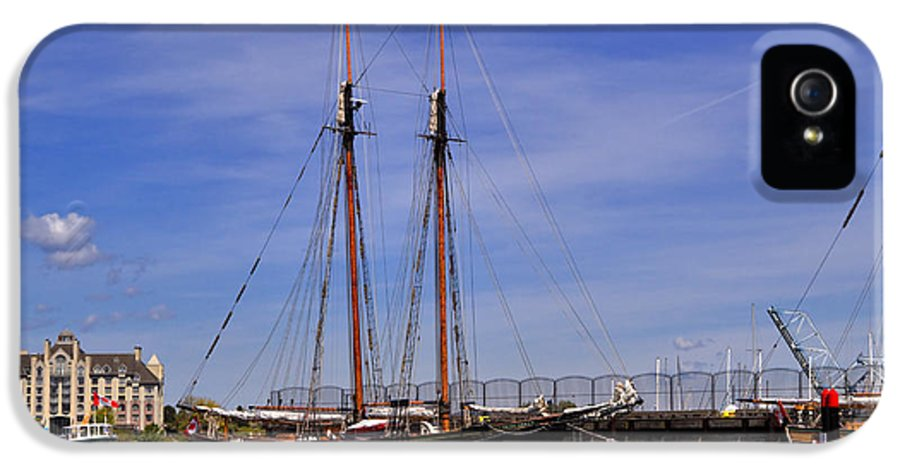 Tall Ship IPhone 5 Case featuring the photograph The Tall Ship Pacific Grace Based In Victoria Canada by Louise Heusinkveld