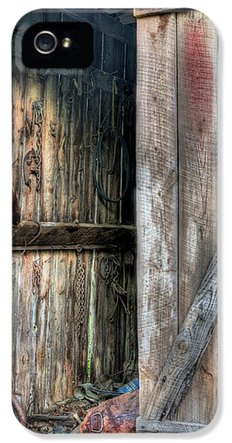 The Wood Shed IPhone 5 Case featuring the photograph The Wood Shed by JC Findley