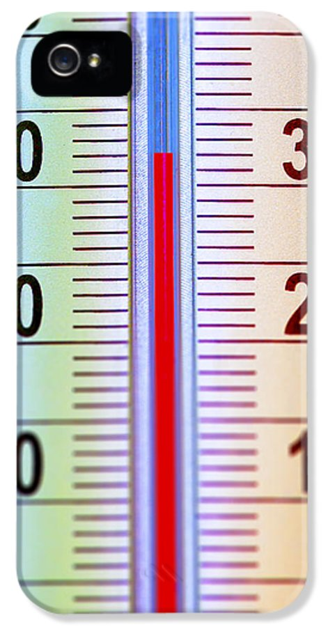 Single IPhone 5 Case featuring the photograph Thermometer Measuring 32 Celsius by Jaak Nilson