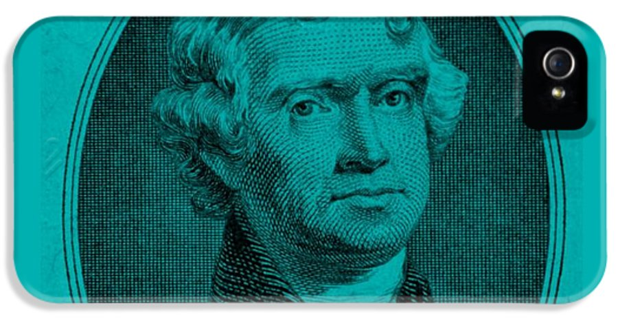 Thomas Jefferson IPhone 5 Case featuring the photograph Thomas Jefferson In Turquois by Rob Hans