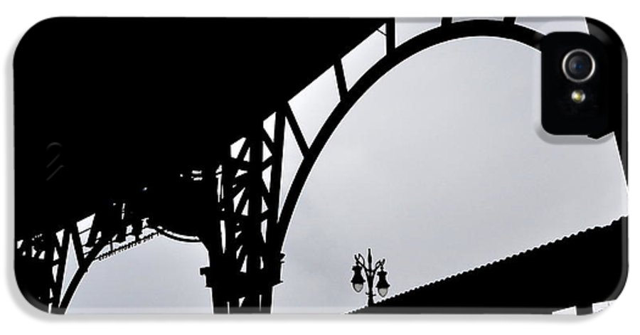 Detroit IPhone 5 Case featuring the photograph Tiger Stadium Silhouette by Michelle Calkins