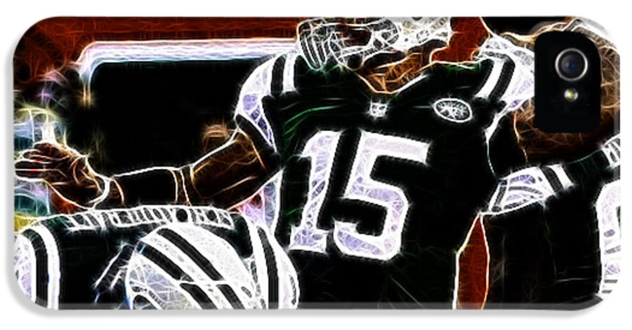 Tim Tebow Ny Jets Quarterback IPhone 5 Case featuring the photograph Tim Tebow - Ny Jets Quarterback by Paul Ward