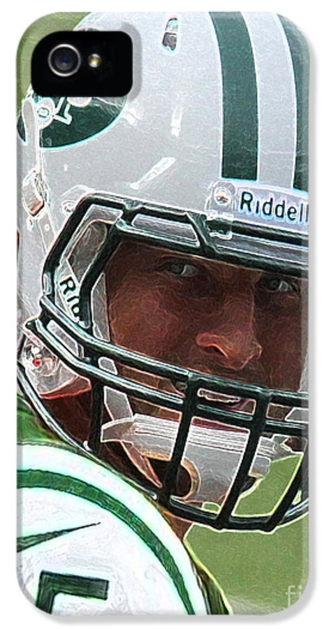 Lee Dos Santos IPhone 5 / 5s Case featuring the photograph Tim Tebow Art Deco IIi - New York Jets - by Lee Dos Santos