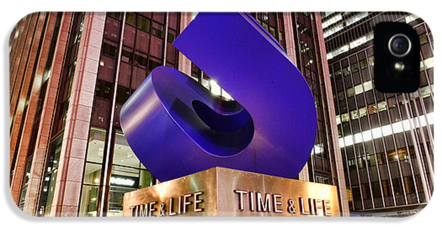 Time Life Building IPhone 5 Case featuring the photograph Time And Life Curved Cube by Paul Ward