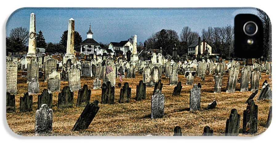 Tombstones IPhone 5 Case featuring the photograph Tombstones by Paul Ward