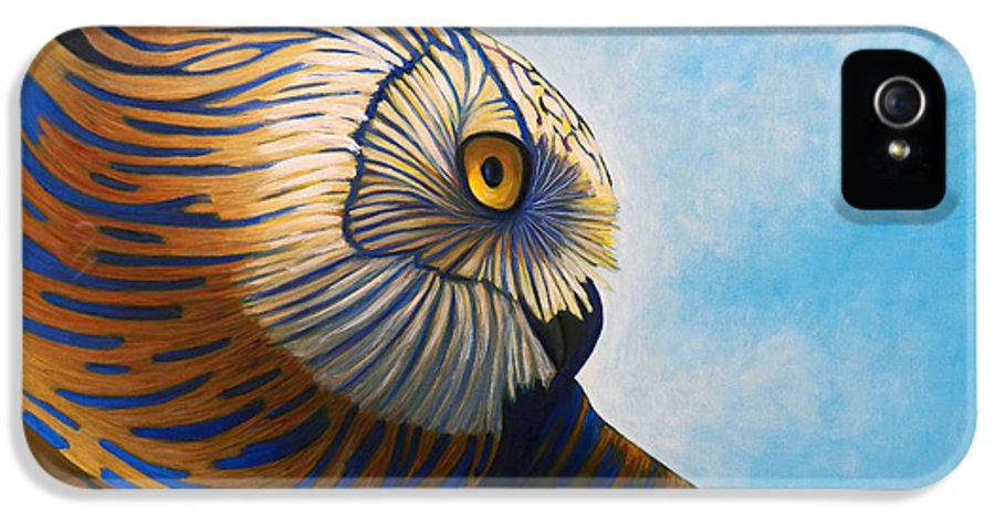 Owl IPhone 5 Case featuring the painting Torchwood by Brian Commerford