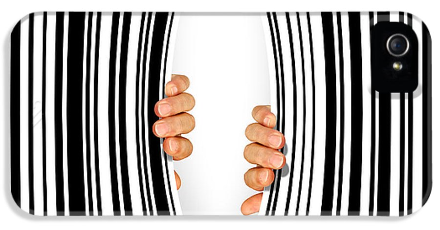 Addiction IPhone 5 Case featuring the photograph Torn Bar Code by Carlos Caetano