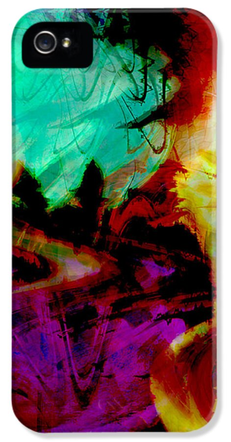Abstract IPhone 5 Case featuring the digital art Touch Of The Sun by Linda Sannuti