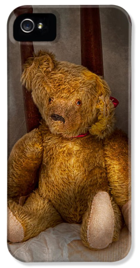 Children IPhone 5 Case featuring the photograph Toy - Teddy Bear - My Teddy Bear by Mike Savad