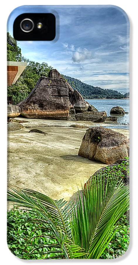 Tropical IPhone 5 Case featuring the photograph Tropical Beach by Adrian Evans