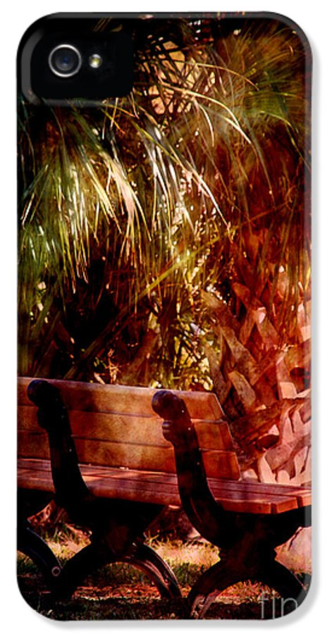 Bench IPhone 5 Case featuring the photograph Tropical Bench by Susanne Van Hulst
