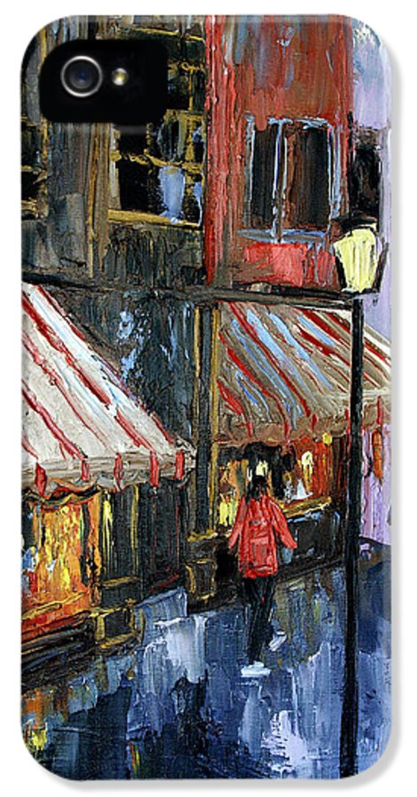 Twelve Street And Rine Framed Prints IPhone 5 / 5s Case featuring the painting Twelve Street And Rine by Anthony Falbo