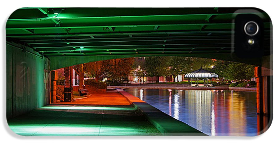 Edwin H Land Blvd. IPhone 5 Case featuring the photograph Under The Bridge by Joann Vitali