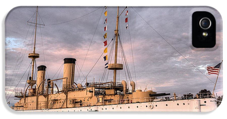 U.s.s. IPhone 5 Case featuring the photograph Uss Olympia by JC Findley
