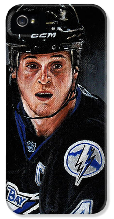 Nhl IPhone 5 Case featuring the painting Vinny Lecavalier by Marlon Huynh